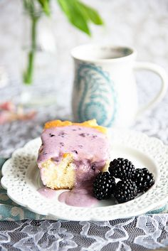 Recipe: The Best Coffee Cake with Blackberry Glaze