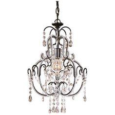 "Brielle Antique Brass 12"" Wide Crystal Plug-In Swag Pendant - #Y9102 | LampsPlus.com"