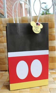 Mickey Mouse  Favor Bag  Goodie Bag  Candy  by PaperletteDesigns, $24.50