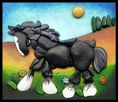 Shire horse..beautiful stone art