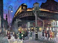 Sixth Avenue Elevated at Third Street - c. 1912 - John French Sloan