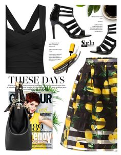 """""""Print skirt - Shein"""" by yexyka ❤ liked on Polyvore featuring TradeMark and shein"""
