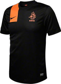 Netherlands Soccer Black Nike Replica Away Jersey - made from 100% Recycled Material - http://www.fansedge.com/Netherlands-Soccer-Black-Nike-Replica-Away-Jersey-_1249256534_PD.html?social=pinterest_3612_netherlands