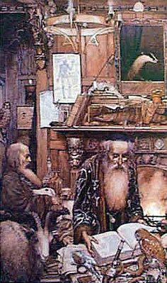The Book of Merlin, T.H.White - Alan Lee illustration.