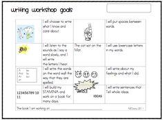 KC Kindergarten Times: Writing Workshop Goals