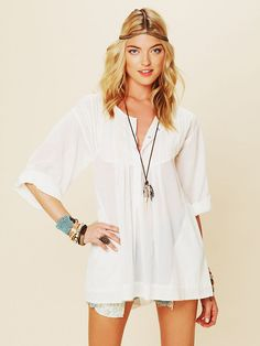 Living Easy Tunic http://www.lyst.com/clothing/free-people-living-easy-tunic-cream/