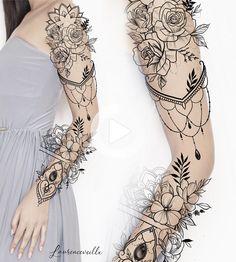 Half Sleeve Tattoo Designs and Meanings Tattoos - diy best tattoo images - Tattoos - Woman Tattoo Sleeve Ideas Design Tattoo Design – Laurenceveillx Tattoo Ideas Tattoo Designs - Henna Tattoos, Body Art Tattoos, Cool Tattoos, Woman Tattoos, Tatoos, Awesome Tattoos, Best Sleeve Tattoos, Sleeve Tattoos For Women, Feminine Sleeve Tattoos
