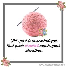 I saw this and it made me smile So I wanted to pass the smile on. Happy Thursday everyone. Love Crochet, Crochet Yarn, Crochet Hooks, Knitting Kits, Knitting Yarn, Knitting Humor, Crochet Designs, Crochet Patterns, Crochet Ideas