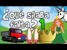 ¿Qué silaba falta? #1 para niños   Aprender a leer y aprender las silabas - YouTube