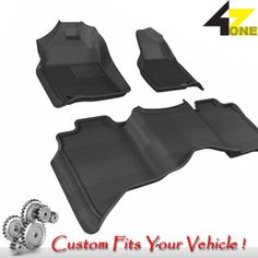 3D Fits 2012-2015 Ram 1500 G3AC74302 Black Carpet Front and Rear Car Parts For S