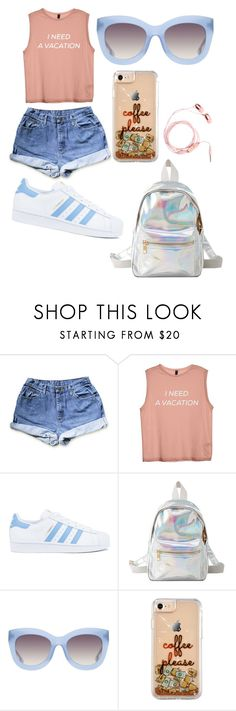 """I need a vacation"" by sofkulin ❤ liked on Polyvore featuring adidas, Charlotte Russe and Alice + Olivia"