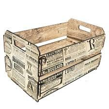 I recently bought some old magazines from the & I think I'll copy them, and decopauge them on to several of these crates I have lying around Vintage Crafts, Shabby Vintage, Vintage Paper, Wood Crates, Wood Boxes, Decoupage Wood, Fruit Box, Dose, Painting On Wood