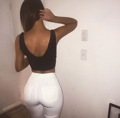 beautiful, figure, girl, high waisted, jeans, outfit, pretty, white, a$$