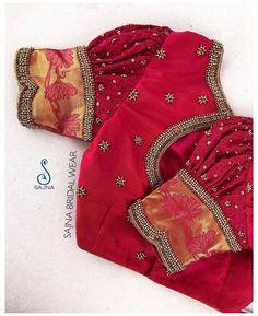 Blouse Back Neck Designs, New Saree Blouse Designs, Simple Blouse Designs, Silk Saree Blouse Designs, Stylish Blouse Design, Blouse Designs Embroidery, Zardosi Embroidery, Bridal Blouse Designs, Traditional Blouse Designs