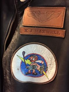 A2 leather jacket - 487th Fighter Squadron