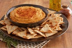 Sweet potato, spiced with paprika, cumin, garlic and ground red pepper, lends a new flavor to traditional hummus.