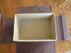 I talked to one of my aunts a while back and told her I would post a tutorial on how to wrap a box in fabric. Glue Gun Projects, Glue Gun Crafts, Diy Projects To Try, Cardboard Organizer, Cardboard Box Crafts, Fabric Storage Boxes, Fabric Boxes, Fabric Covered Boxes, Diy Box