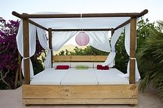 Channel your inner rock-chic with this outdoor day bed in Ibiza!