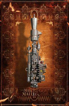 My STAR WARS steampunk weaponry - The Death Malleus Grotesque Re-atomizer (top) An engine of massive molecular destruction.