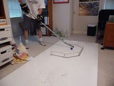 "Homemade ""Fast Hands"" Stickhandling Training Aid - YouTube"