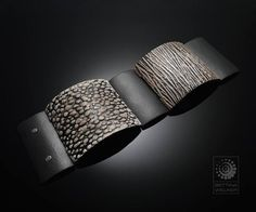 Bettina Welker • Polymer Clay Artist & Teacher Tile Bracelet with hinge connection and magnetic clasp