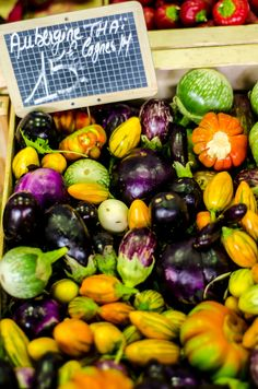 Marche Provençale, France (variety of squashes at the market in Provence) | Alessandro Baffa