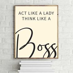 """""""Girl-Boss"""" Quote Illustrated Printable Wall Art – a great and affordable way to decorate and give a fresh look to your home and office or to give as a gift to family and friends. Printable Quotes, Printable Wall Art, Chalk Pastel Art, Simple Living Room Decor, Winter Art Projects, Act Like A Lady, Girl Boss Quotes, Woodland Nursery Decor, Animal Nursery"""
