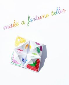 Remember these? Origami fortune teller (or chatterbox)