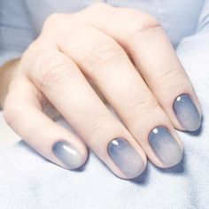 Both long nails and short nails can be fashionable and beautiful by artists. Short coffin nail art designs are something you must choose to try. They are one of the most popular nail art designs. Today, in this article, we have collected 40 stylish Ombre Nail Designs, Nail Art Designs, Nails Design, Blue Ombre Nails, Ombre Nail Art, Nail Gradient, Gradient Color, Nail Art Blue, Grey Ombre