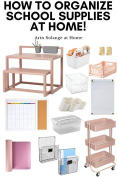 Here are some great organization items for doing schoolwork at home for distance learning or homeschool! These also work great in a home office setting.