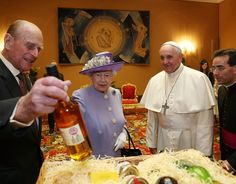 Queen Elizabeth II and Prince Philip have an audience with Pope Francis, during their one-day visit to Rome
