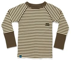AlbaBaby Geim shirt - Brown/cream stripes Retro Baby Clothes - Baby Boy clothes - Danish Baby Clothes - Smafolk - Toddler clothing - Baby Clothing - Baby clothes Online