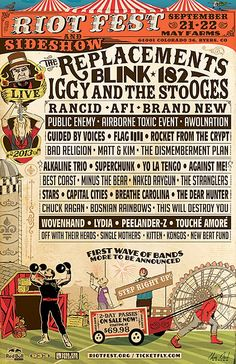 Riot Fest Denver Lineup Announced: The Replacements, Blink-182, Iggy & The Stooges (Win 2 tickets!)