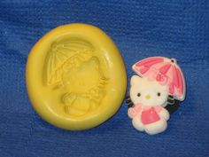 Kitty Cat Character Silicone Push Mold #441 Chocolate Cake Topper Resin Soap #LobsterTailMolds