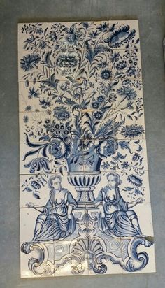 1000 images about dutch delft tiles projects on pinterest for Delft tile mural
