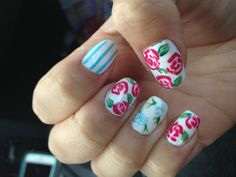Floral nail designs! I love gel manicures