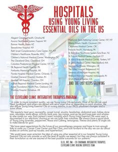 Young Living Essential Oils - Hospitals Using Young Living in the U.S.