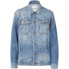Current/Elliott Oversized Jean Jacket ($240) ❤ liked on Polyvore featuring outerwear, jackets, coats & jackets, coats, blue, denim jacket, oversized jean jacket, oversized denim jacket, oversized jacket and blue jean jacket