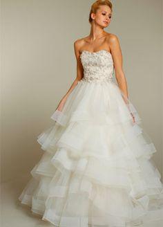 A Jim Hjelm Wedding gown available at Bridal Boutique.  bridalboutiquebr.com