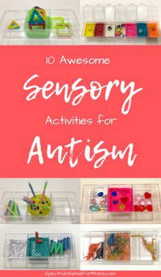 These little kits are absolute lifesavers! My kids love these sensory activities for autism, and they are great for improving fine motor skills and strengthening little hands. Sensory Activities For Autism, Activities For Autistic Children, Autism Resources, Children With Autism, Motor Activities, Infant Activities, Sorting Activities, Aba Therapy Activities, Play Therapy