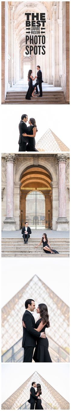 So when you come to the City of Love to have your Paris engagement photos taken, one obvious stop is the Eiffel Tower. But there is more. Much more. One of our favorite places to have your engagement photos taken is the Louvre Museum. And it's not just about the pyramid. There are infinity arches, beautiful gates, columns, courtyards and much more. Then venture immediately outside the museum to the Tuileries, the Seine River, Cafes, and even Palais Royal #parisengagementphotos…