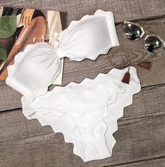 Cupshe Shining Day Waves Halter Bikini Set