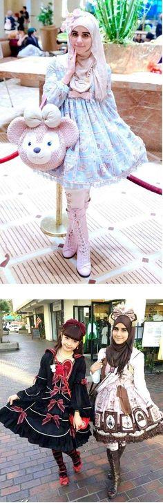 Muslim women inspired by Japanese Fashion