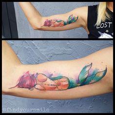 Watercolor Tattoo Artist Russell Van Schaick in Orlando, Florida
