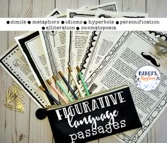 Figurative Language Reading Comprehension passages. I have written 6 reading comprehension passages that focus on a style of figurative language each passage. You will be able have your reader's focus on similes, metaphors, idioms, hyperbole's, personification, alliteration, and onomatopoeia. #readingisfun #readingcomprehension #figurativelanguage Class Activities, Language Activities, Teaching Reading, Teaching Ideas, Ela Classroom, Classroom Resources, Future Classroom, Figurative Language Activity, Third Grade