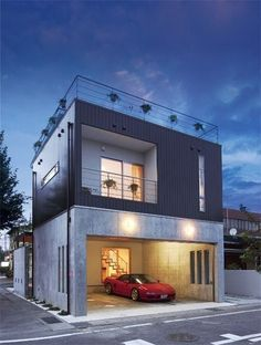 Looking for how to renovate shipping container into house, Shop, Garage or Workshop? Here are extensive shipping Container Houses Ideas for you! shipping container homes Container Home Designs, Building A Container Home, Container House Plans, Tiny House Design, Modern House Design, Garage Design, Exterior Design, Diy Exterior, Garage Construction
