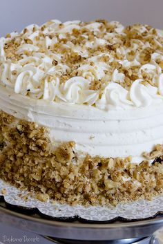 """Carrot Cake with Mascarpone Buttercream ~ I haven't tried this recipe, yet, but it looks glorious!  I think I prefer the """"deconstructed"""" version."""