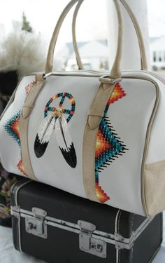 Painted bag by Rez Hoofz on Etsy