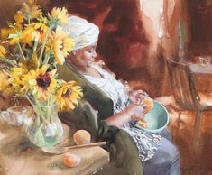 Kitchen Sunflowers by Mary Whyte