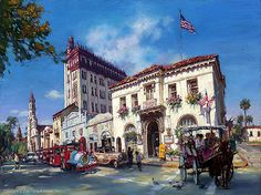 Life in St. Augustine, FL. by Cao Yong ~ Grand American series